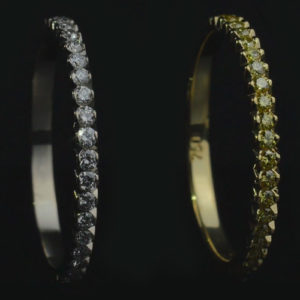 "Gemstone insert ""Crocodile's tail"""
